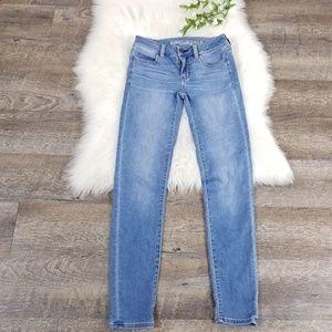 American Eagle Jegging Jeans Light Blue Wash 00